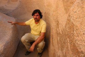 Martin Voltersen im Assuan Steinbruch in Ägypten