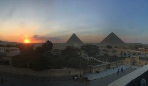 Die Cheops Pyramide, die Chephren Pyramide und die Mykerinos Pyramide